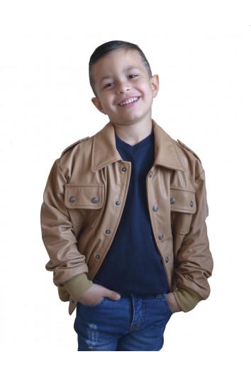 Jaqueta de Couro Infantil